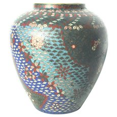 Japanese Cloisonne Vase 19th  Century