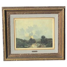 Armando E Repetto Painting Argentinian 1955 Landscape