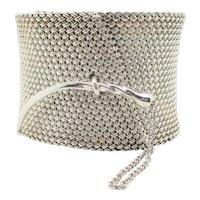 John Hardy Woven Mesh Sterling Silver Cuff Bracelet
