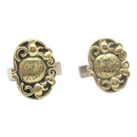 Silver Gilt Sterling Cufflinks circa 1920s'