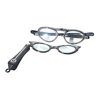 Pair of Ladies  Foldable Rhinestone Reader Glasses -A Pair of 2