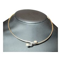 Sterling Silver Torque Necklace