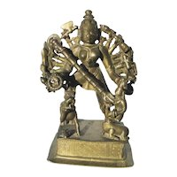15th Century South Indian Bronze Durga Statue