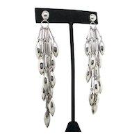 Sterling Silver Modernist Dangle Earrings