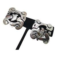 Sterling Silver Clip-on Earrings  Mayan Glyph