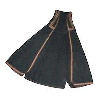 Long Black Wool Greek Vest Vintage Traditional Garments