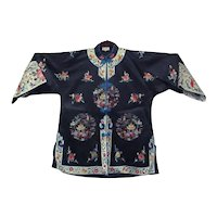 Chinese Ladies Large Summer Coat Embroidered Silk