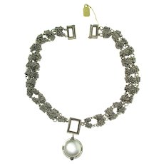 Michael Dawkins 925 Silver Chain Necklace and Pendent With Mabe Pearl Pendent