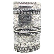 Long Silver Cuff Berber Tribal Jewelry