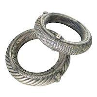 Antique Tribal Rajasthan Silver Bracelets