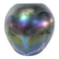 Louis Comfort Tiffany Signed   Tiffany Vase  E146