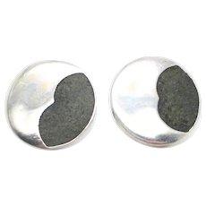 Resin Matrix Stone Setting Sterling Silver  Cufflinks