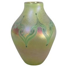 LCT Marked Tiffany Art Glass Vase  4877