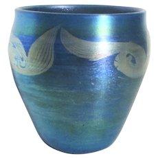 LCT 5925 Tiffany Favrile Blue Vase