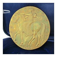 Medaglia Guido Veroi Johnson 1975 Gilt Bronze Medal in Box