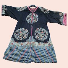 Chinese Embroidered Robe Adapted to Western Form