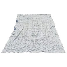 Gros Point Lace Tablecloth late 19th Handmade Lace