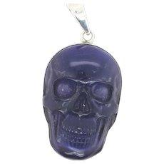 Amethyst Skull  by Charles Albert  Sterling Pendant  Vintage