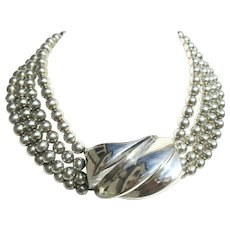 Patricia Von Musulin Sterling Silver necklace.