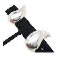 Modern Sterling Silver Clip-on earrings Vintage 1980s'