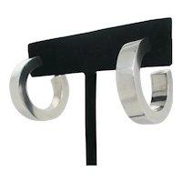Sterling Silver Modern Ring Design Earrings
