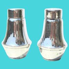 Sterling Silver Salt and Pepper Shakers Vintage 1950s'