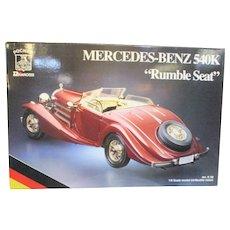 Pocher Model Mercedes-Benz 540K Rumble Seat   Vintage Model