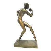 Allan Clark Bronze Art Deco Satyr