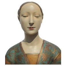 Plaster Renaissance Sculpture of Ippolita Maris Sforza by Francesco Laurana