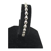 Line Bracelet Cubic Zirconium Vintage Bracelet 1980s'
