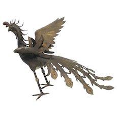 Japanese Meiji Bronze Phoenix Sculpture
