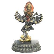 Chakrasamvara Chakrasambhava Yab-Yum Bronze Sculpture Nepal 1970s'