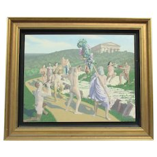 Steven King Painting Bacchus Arcadia  dated  2001