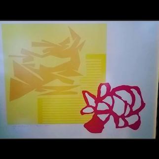 "KRISEL, Harold (1920-1995) ""Slivers"" 1973. Silkscreen Print on Paper"