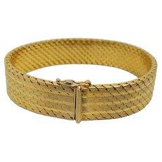 Italian Midcentury Goldtone Interlocking Bracelet