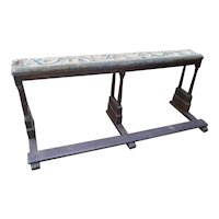 Antique Bench with Tapestry Top