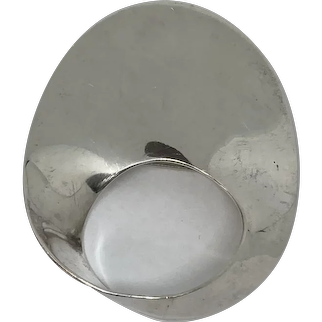 Abstract Mexican Sterling Silver Pin/Brooch Circa 1975
