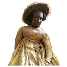 African American Society Fashion Doll Circa 1890