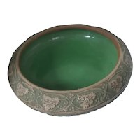 Red Wing Pottery Brushware Narcissus Bowl, Circa 1930