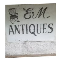 Huge Metal Antique Dealer Sign