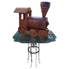 Huge Vintage Stacked Wood Steam Engine
