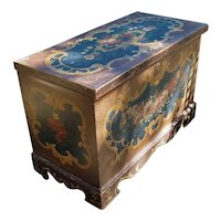 Early 20th Century Hand Painted Trunk