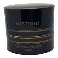 Vintage MISTIGRI Parfum by Jacques Griffe, Paris, 1953 Green & Spicy Mid Century Fragrance