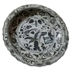 Large Porcelain Charger in the Style of the Ming Dynasty