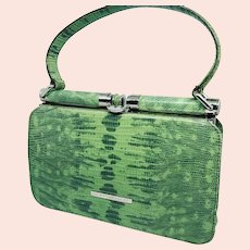 Coccinelle Snakeskin-embossed Leather Purse