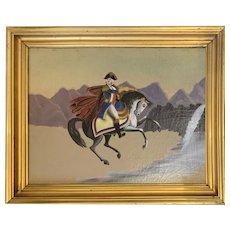 George Washington on Charger Folk Painting