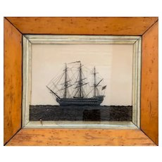 "British Reverse on Glass ink of The Ship ""Terrible"""