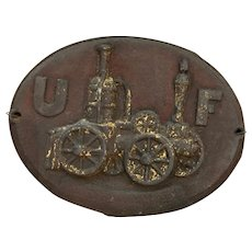 Iron Fire Insurance Plaque