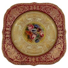 Handpainted Royal Worcester Cabinet plate