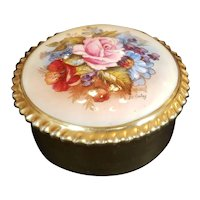 Signed Aynsley  round covered Box